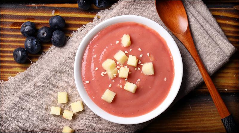 soupe de poivrons et emmenthal